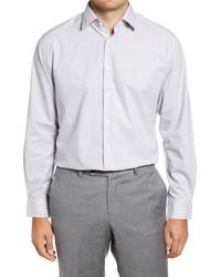 Nordstrom Trim Fit Non Iron Stripe Print Dress Shirt