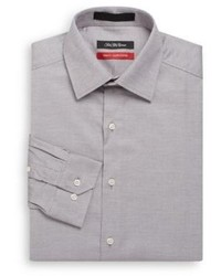 Saks Fifth Avenue Trim Fit Stretch Cotton Dress Shirt