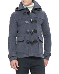 Burberry Brit Short Wool Duffle Coat Mid Gray