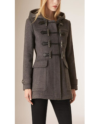 Burberry Fur Trim Fitted Duffle Coat   Where to buy & how to wear