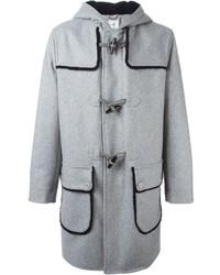 Carven Contrasting Trim Long Duffle Coat
