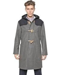 Carven Hooded Oversized Wool Twill Duffle Coat