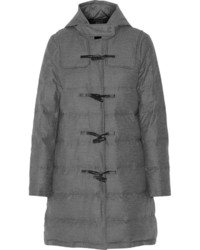 Theory Emmit Hooded Quilted Wool Blend Coat