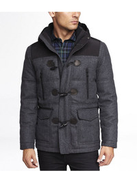 Express Quilted Wool Blend Duffle Coat