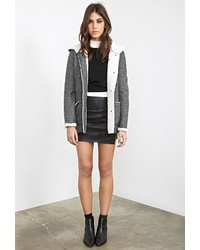 Forever 21 Faux Shearling Lined Duffle Coat