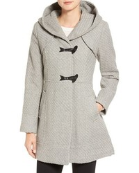 Jessica Simpson Hooded Basket Weave Duffle Coat