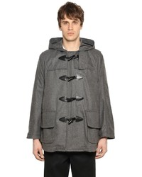 Comme des Garcons Hooded Wool Blend Short Duffle Coat