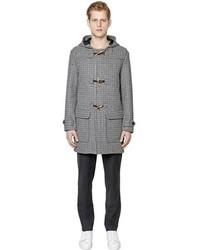 Luisa Via Roma Wool Houndstooth Montgomery Coat