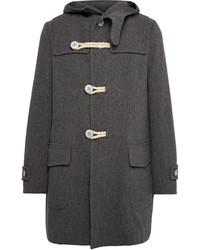 Kolor Melton Wool Blend Duffle Coat