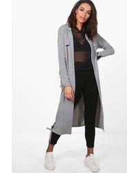 Boohoo Jasmine Lace Up Side Eyelet Duster