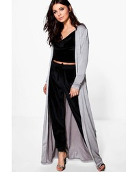 Boohoo Milly Slinky Belted Maxi Duster