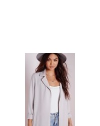 944174a7f5 Missguided Long Sleeve Maxi Duster Coat Grey, $59 | Missguided ...