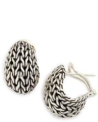 John Hardy Classic Chain Buddha Belly Earrings