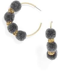 BaubleBar Curacao Pompom Hoop Earrings