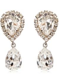 Dolce & Gabbana Large Swarovski Drop Clip On Earrings