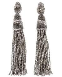 Oscar de la Renta Long Tassel Drop Earrings