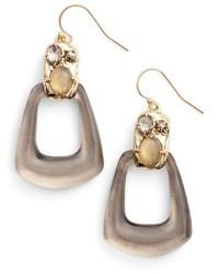 Alexis Bittar Lucite Smoky Quartz Drop Earrings