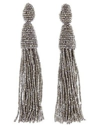 Oscar de la Renta Long Tassel Drop Earrings