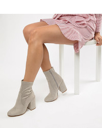 ASOS DESIGN Eastern Wide Fit Sock Boots Micro