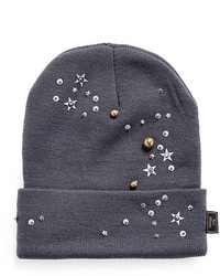 Piers Atkinson Star Sequin Embellished Beanie