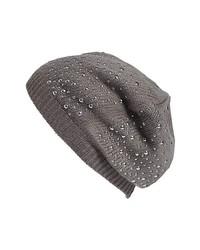 Tarnish Studded Beanie Grey Castlerock One Size