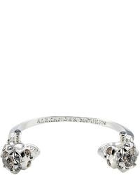 Alexander McQueen Embellished Skull Bracelet