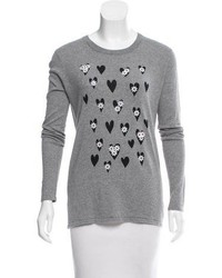 Embellish accented crew neck sweater medium 6569649