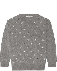 Marc Jacobs Embellished Wool And Cashmere Blend Sweater