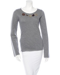 Marni Embellished Wool Sweater