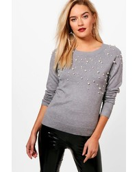 Boohoo Louise Fluffy Knit Detail Embellished Jumper Out of stock · Boohoo  Libby Pearl Embellished Fine Knit Jumper 68fd2790c