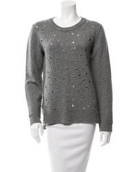 Michael Kors Michl Kors Embellished Cashmere Top