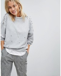 Stradivarius Pearl Embellished Sweater