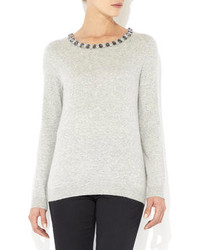 Wallis Petite Grey Embellished Jumper