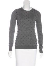 Lela Rose Wool Studded Sweater