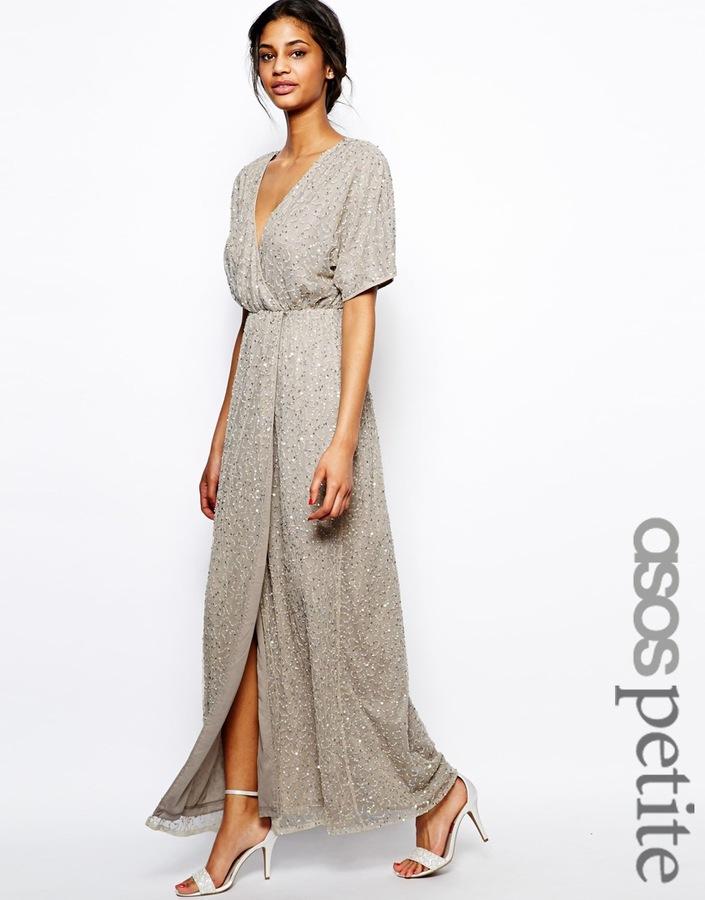 Asos ASOS PETITE Sequin Kimono Sleeve Maxi Dress   Where to buy ...