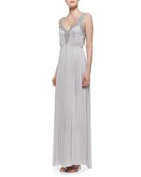 Catherine Deane Beaded Silk Sleeveless Gown