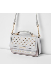 River Island Grey Studded Mini Cross Body Chain Bag