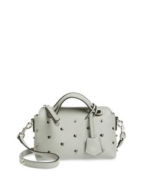 Fendi Mini By The Way Crystal Embellished Convertible Leather Crossbody Bag