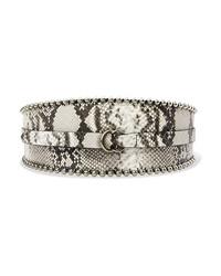 Isabel Marant Kytoo Embellished Snake Effect Leather Waist Belt