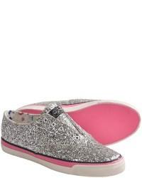 Grey Embellished Low Top Sneakers