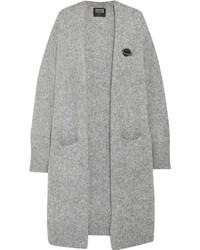 Markus Lupfer Embellished Wool Blend Cardigan Light Gray