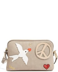 Peace embellished suede crossbody bag medium 951684
