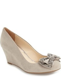 Selonia crystal embellished wedge pump medium 816475