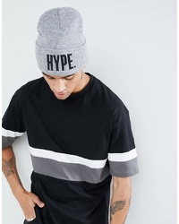 Hype Beanie With Logo In Grey