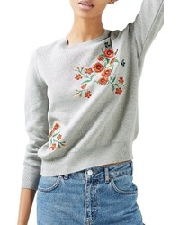 Poppy embroidered sweater medium 1249583