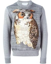 Salvatore Ferragamo Embroidered Owl Sweater
