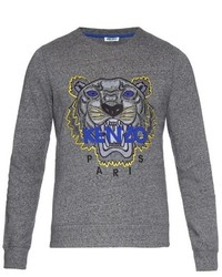 Kenzo Tiger Embroidered Jersey Sweatshirt