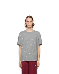 MAISON KITSUNÉ Grey Puma Edition All Over T Shirt