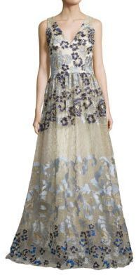 d1c82825793 ... Evening Dresses David Meister Embroidered Ball Gown ...