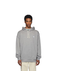 Acne Studios Grey Oversized Farrin Face Hoodie